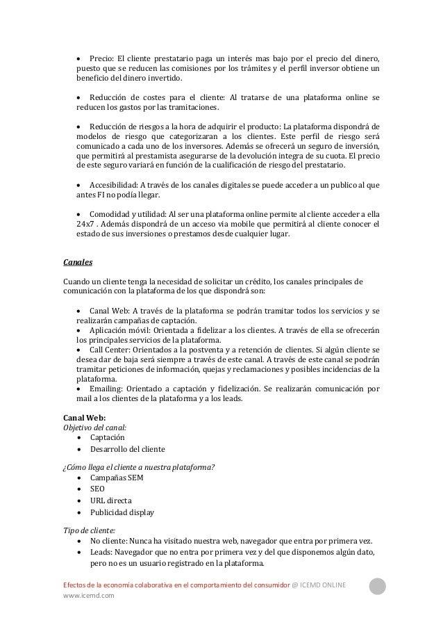 Efectos de la economía colaborativa en el comportamiento del consumidor @ ICEMD ONLINE www.icemd.com 36  Clientes: Client...
