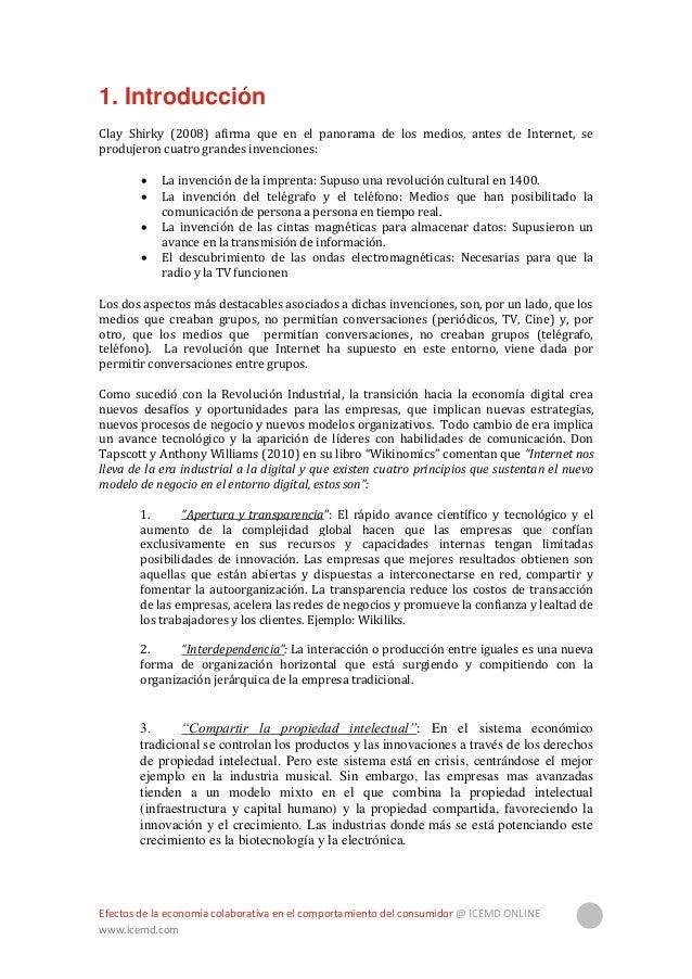 """Efectos de la economía colaborativa en el comportamiento del consumidor @ ICEMD ONLINE www.icemd.com 5 4. """"Actuación globa..."""