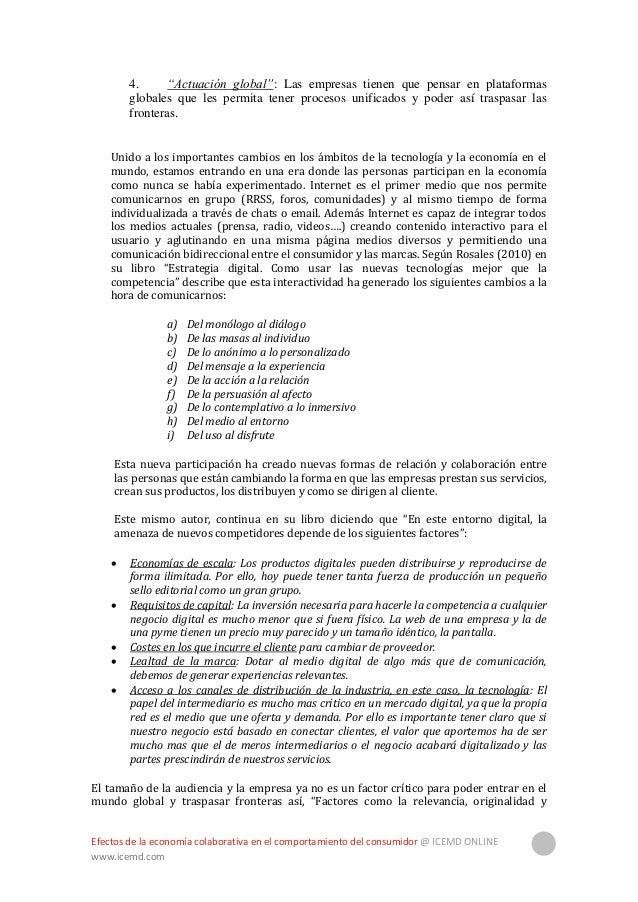 Efectos de la economía colaborativa en el comportamiento del consumidor @ ICEMD ONLINE www.icemd.com 6 alineación con el n...