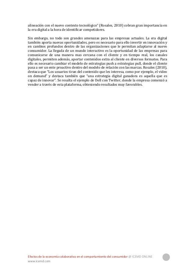 Efectos de la economía colaborativa en el comportamiento del consumidor @ ICEMD ONLINE www.icemd.com 7 2. Cómo ha cambiado...