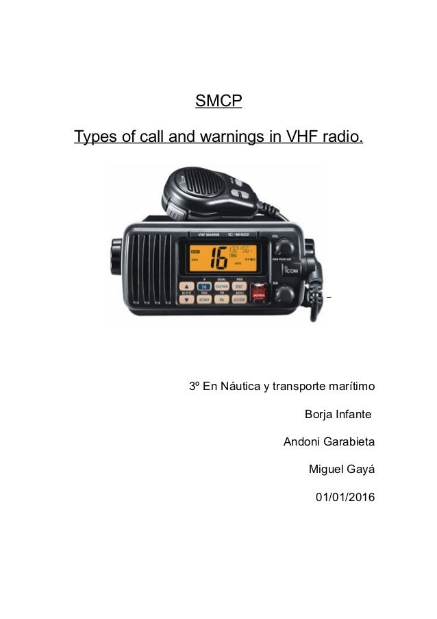 smcp security messages essay smcp types of call and warnings in vhf radio 3º en nautica y transporte maritimo