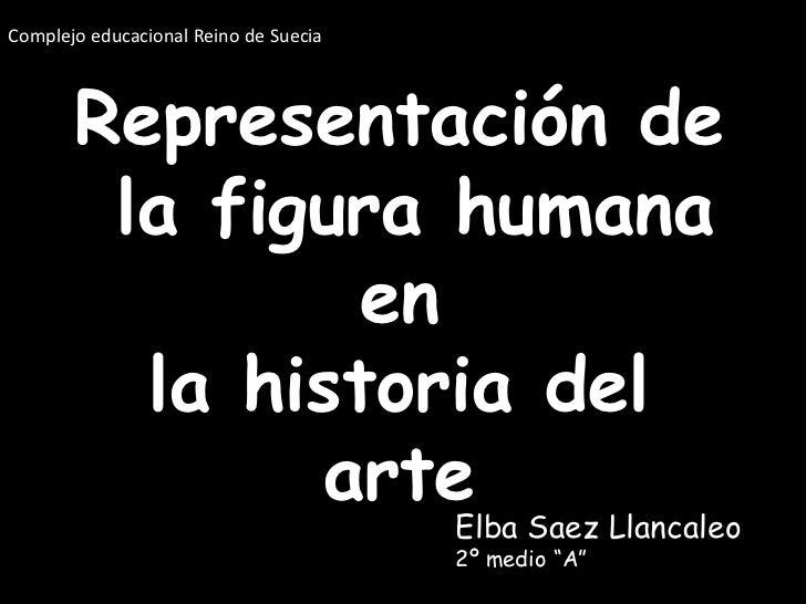 Complejo educacional Reino de Suecia<br />Representación de la figura humana en la historia del arte<br />Elba Saez Llanca...