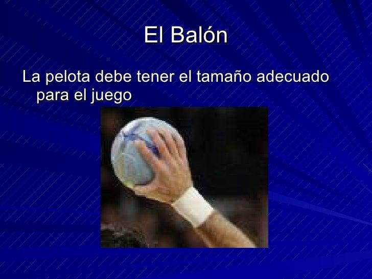 TECNICAS DE HANBALL! Slide 3