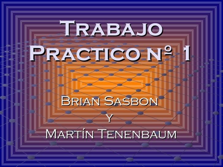 Trabajo Practico nº 1 Brian Sasbon  y  Martín Tenenbaum