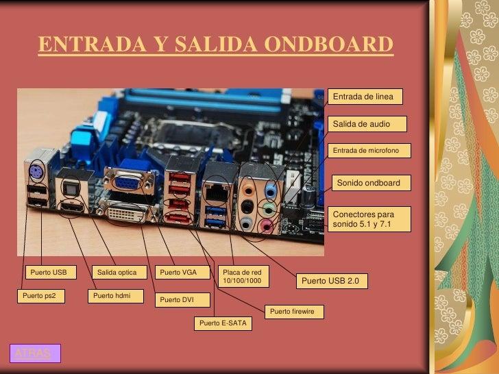 ENTRADA Y SALIDA ONDBOARD                                                                                     Entrada de l...
