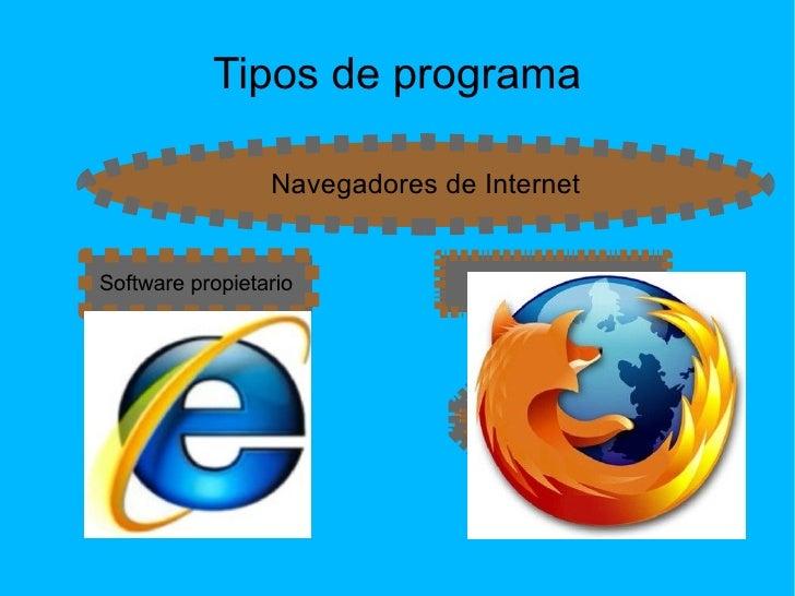 Tipos de programa Internet Explorer Mozilla Firefox
