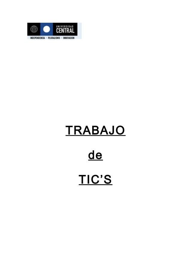 TRABAJO de TIC'S