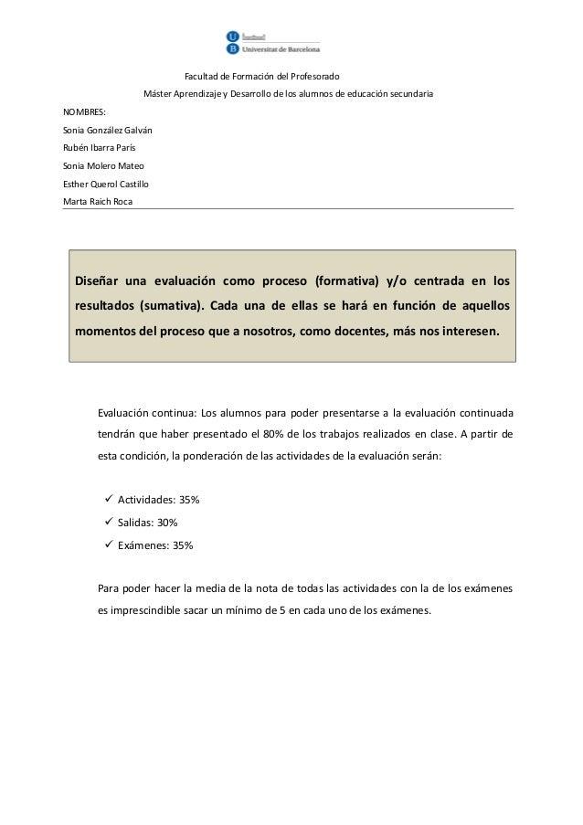 Facultad de Formación del Profesorado                     Máster Aprendizaje y Desarrollo de los alumnos de educación secu...