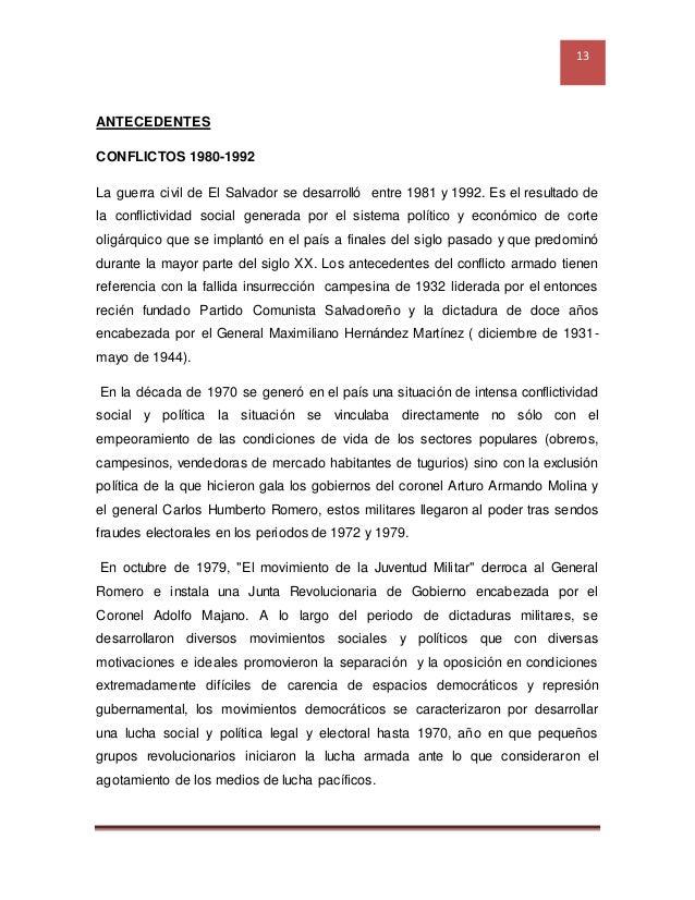El Salvador: 1833, 1932, 1969, 1980 y 1992