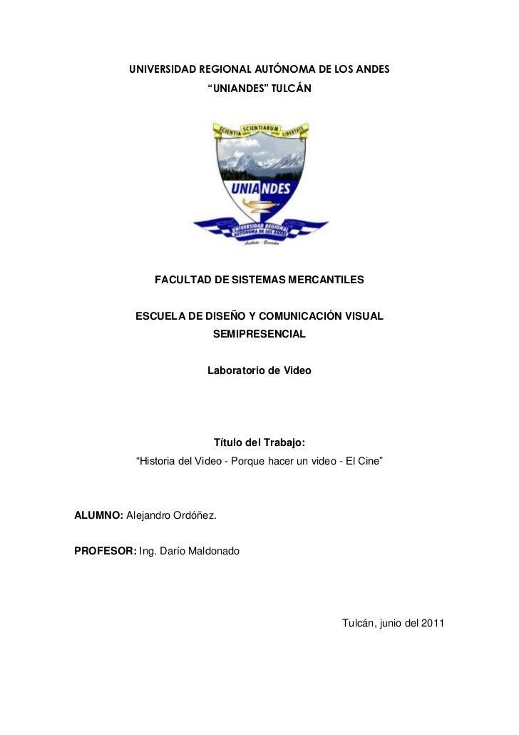 """UNIVERSIDAD REGIONAL AUTÓNOMA DE LOS ANDES<br />""""UNIANDES"""" TULCÁN <br />FACULTAD DE SISTEMAS MERCANTILES<br />ESCUELA DE D..."""