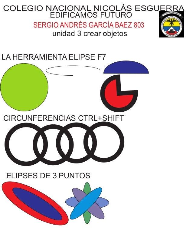 COLEGIO NACIONAL NICOLÁS ESGUERRA EDIFICAMOS FUTURO SERGIO ANDRÉS GARCÍA BAEZ 803 unidad 3 crear objetos LA HERRAMIENTA EL...