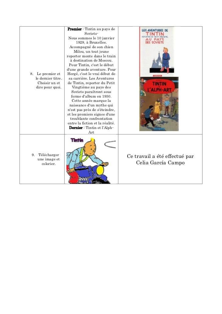 Premier : Tintin au pays de                                   Soviets-                        Nous sommes le 10 janvier   ...