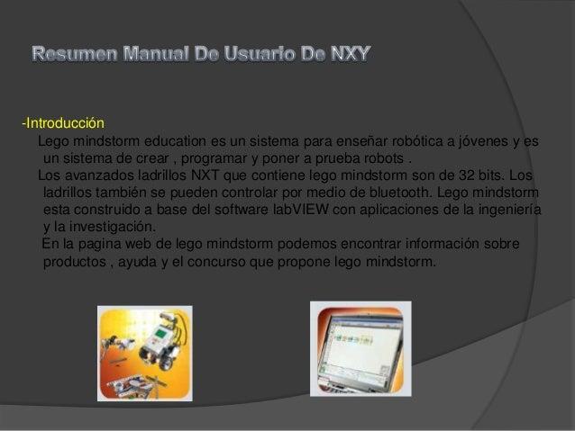 -IntroducciónLego mindstorm education es un sistema para enseñar robótica a jóvenes y esun sistema de crear , programar y ...