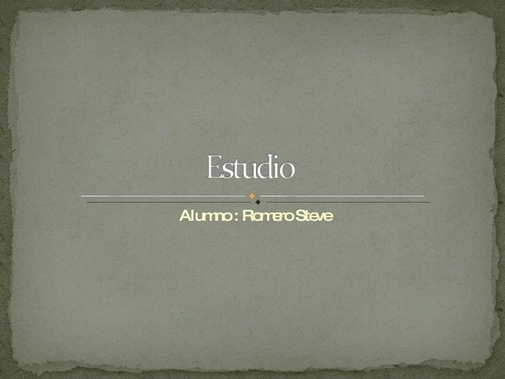 Alumno : Romero Steve