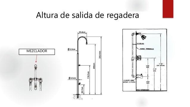 Instalaciones hidrosanitarias agua fria for Partes de una llave de regadera