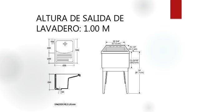 Instalaciones hidrosanitarias agua fria for Lavadero medidas