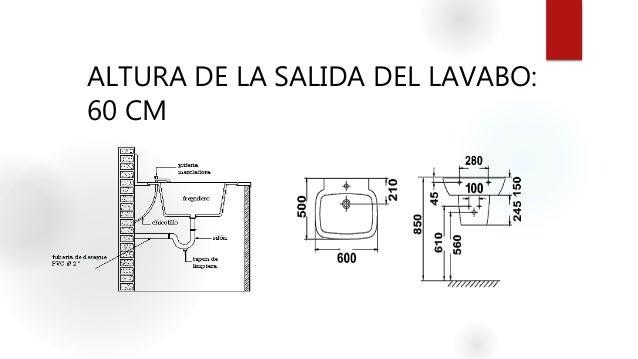 Instalaciones hidrosanitarias agua fria for Altura de lavabo