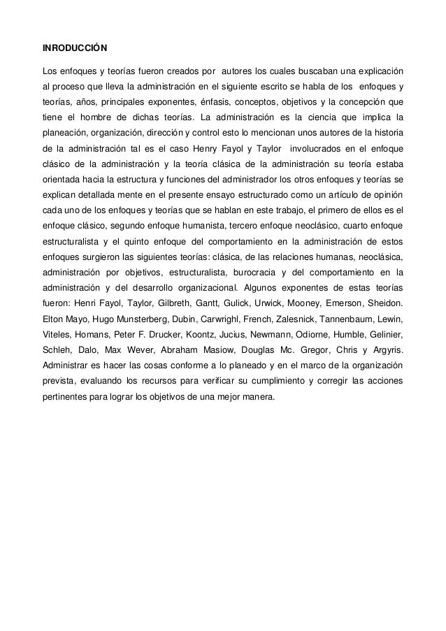 INRODUCCIÓNLos enfoques y teorías fueron creados por autores los cuales buscaban una explicaciónal proceso que lleva la ad...
