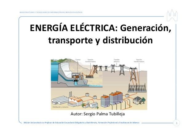 INFAESTRUCTURASYTECNOLOGÍASDEINFORMACIÓNENCENTROSEDUCATIVOS ENERGÍAELÉCTRICA:Generación, t t di t ib iótransport...