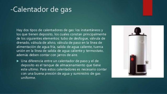 Instalaciones hidrosanitarias agua caliente - Tipos de calentadores de gas ...