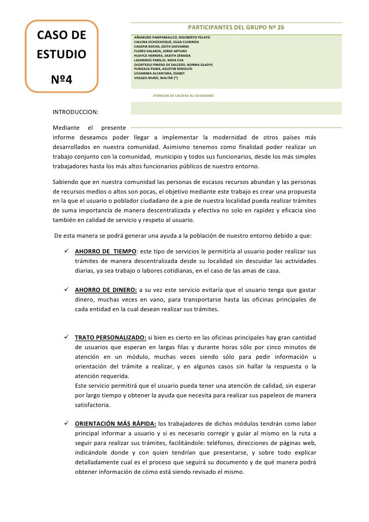 PARTICIPANTES DEL GRUPO Nº 26CASO DE                        AÑAMURO PAMPAMALLCO, RIGOBERTO PELAYO                         ...