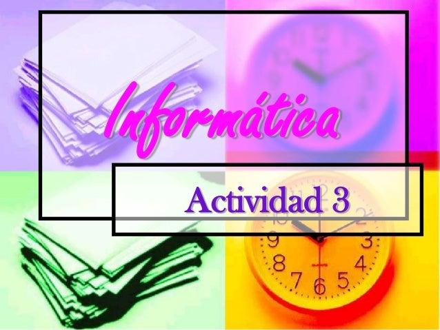 Informática Actividad 3