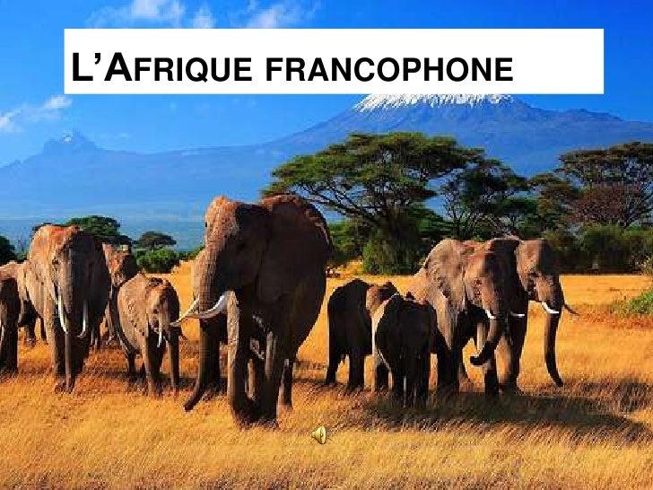 L'AFRIQUE FRANCOPHONE