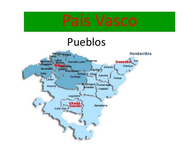 Mapa Pais Vasco Pueblos.Pais Vasco