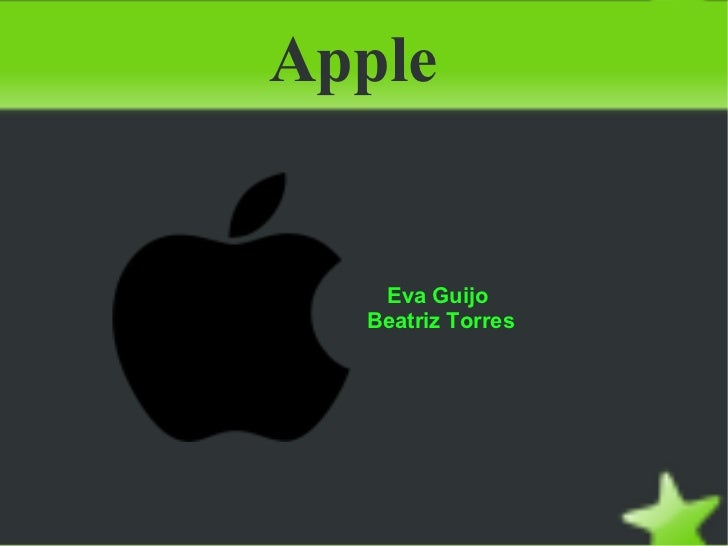 Apple  Eva Guijo  Beatriz Torres