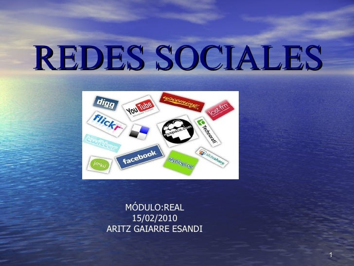 REDES SOCIALES MÓDULO:REAL 15/02/2010 ARITZ GAIARRE ESANDI