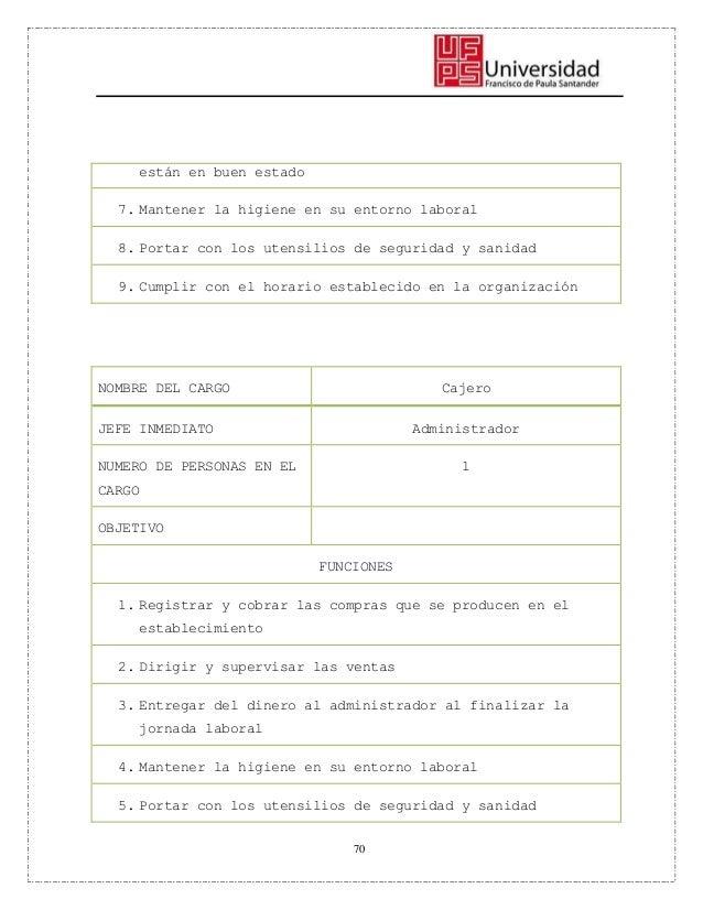 Manual de Funciones - Empresa Carnes la Mejor
