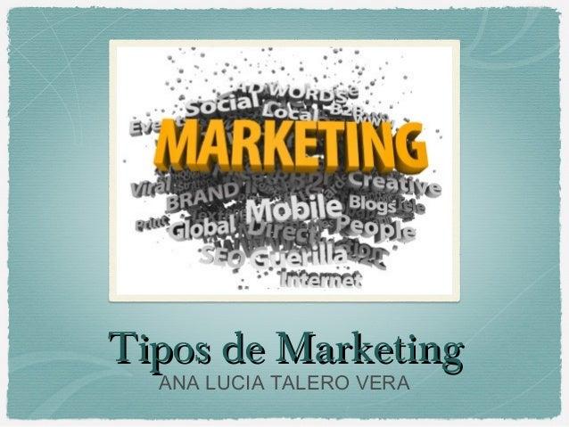 Tipos de MarketingTipos de MarketingANA LUCIA TALERO VERA