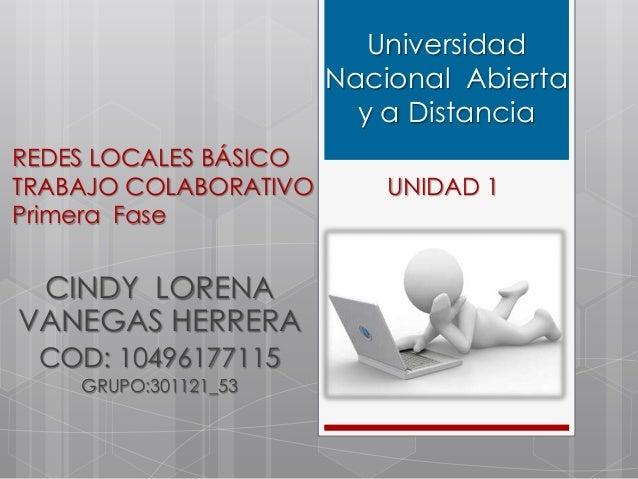 Universidad                       Nacional Abierta                         y a DistanciaREDES LOCALES BÁSICOTRABAJO COLABO...
