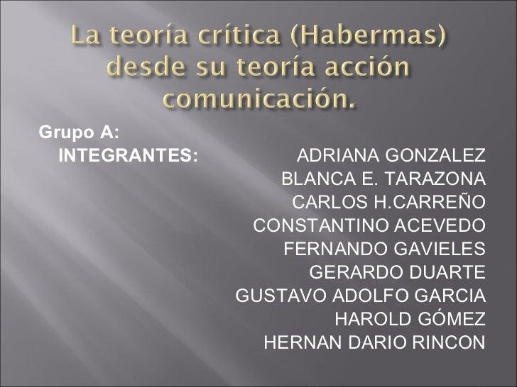 <ul><li>Grupo A: </li></ul><ul><li>INTEGRANTES:  ADRIANA GONZALEZ </li></ul><ul><li>BLANCA E. TARAZONA </li></ul><ul><li>C...