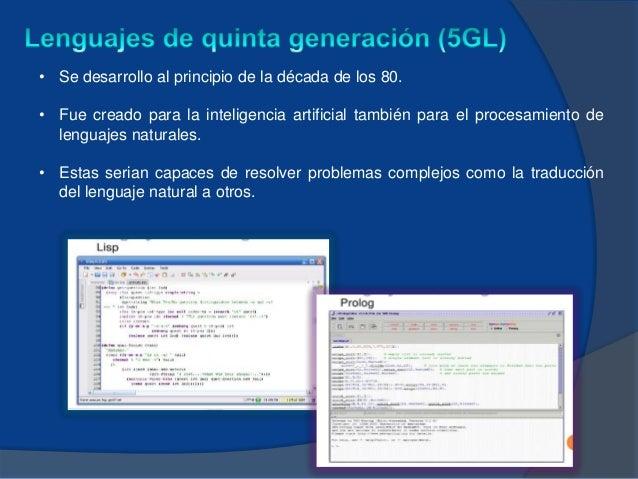 Lenguajes de Programacion según su Generación