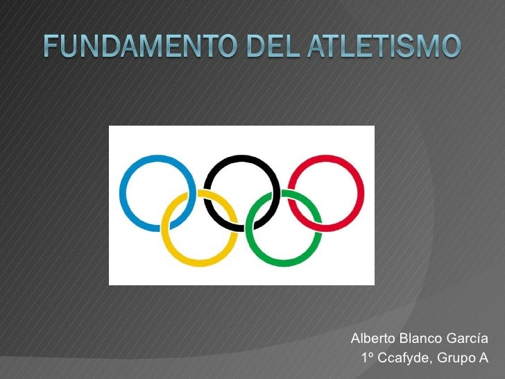 Alberto Blanco García 1º Ccafyde, Grupo A