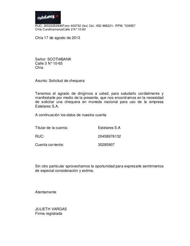 Trabajo completo de dufay for Solicitud de chequera banco venezuela