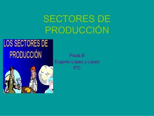 SECTORES DEPRODUCCIÓN        Paula.B Eugenio López y López          6ºC