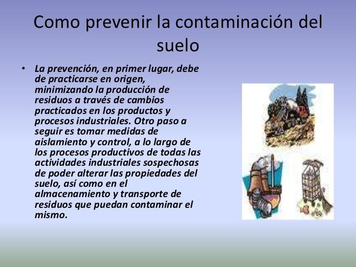 La contaminacion ambiental for Como esta constituido el suelo