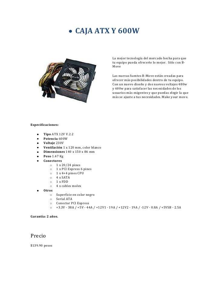CAJA ATX Y 600W<br />202923065<br />La mejor tecnología del mercado hecha para que tu equipo pueda ofrecerte lo mejor. Só...