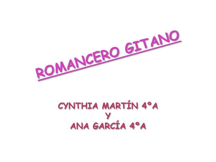 CYNTHIA MARTÍN 4ºA        Y  ANA GARCÍA 4ºA