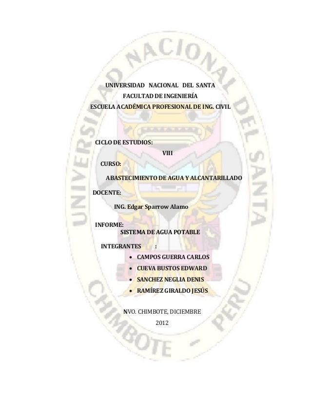 UNIVERSIDAD NACIONAL DEL SANTAFACULTAD DE INGENIERÍAESCUELA ACADÉMICA PROFESIONAL DE ING. CIVILCICLO DE ESTUDIOS:VIIICURSO...