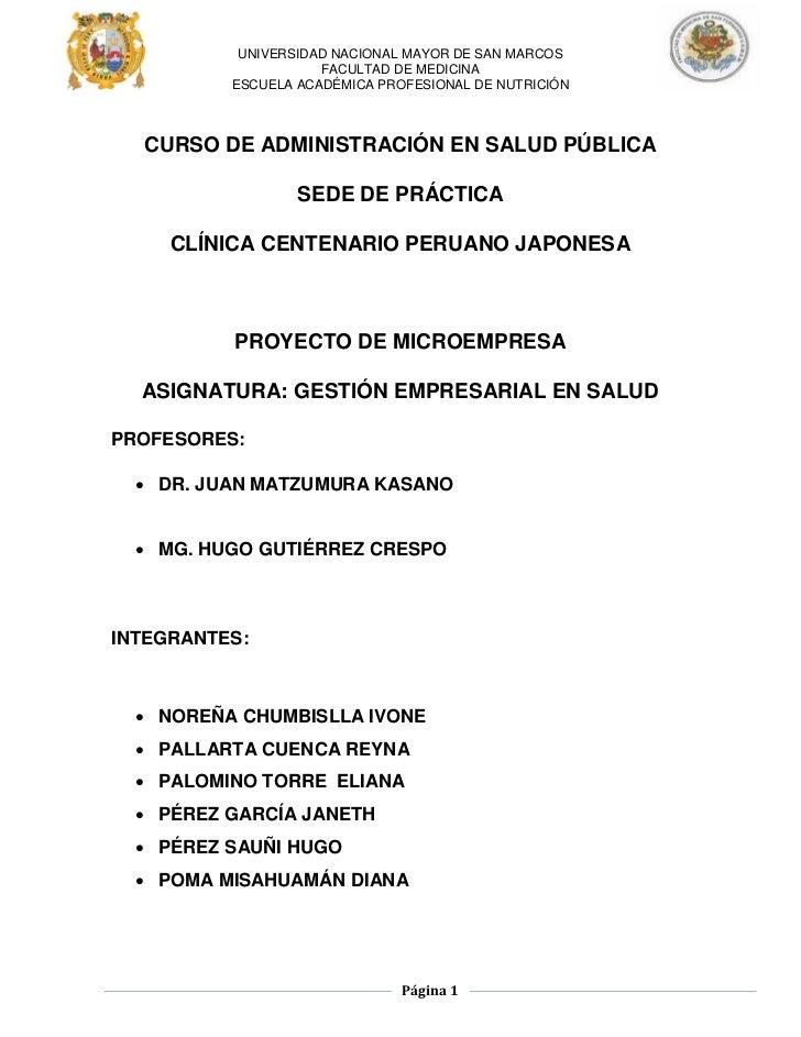 UNIVERSIDAD NACIONAL MAYOR DE SAN MARCOS                     FACULTAD DE MEDICINA          ESCUELA ACADÉMICA PROFESIONAL D...