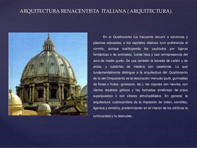 Arquitectura del renacimiento for Caracteristicas de la arquitectura