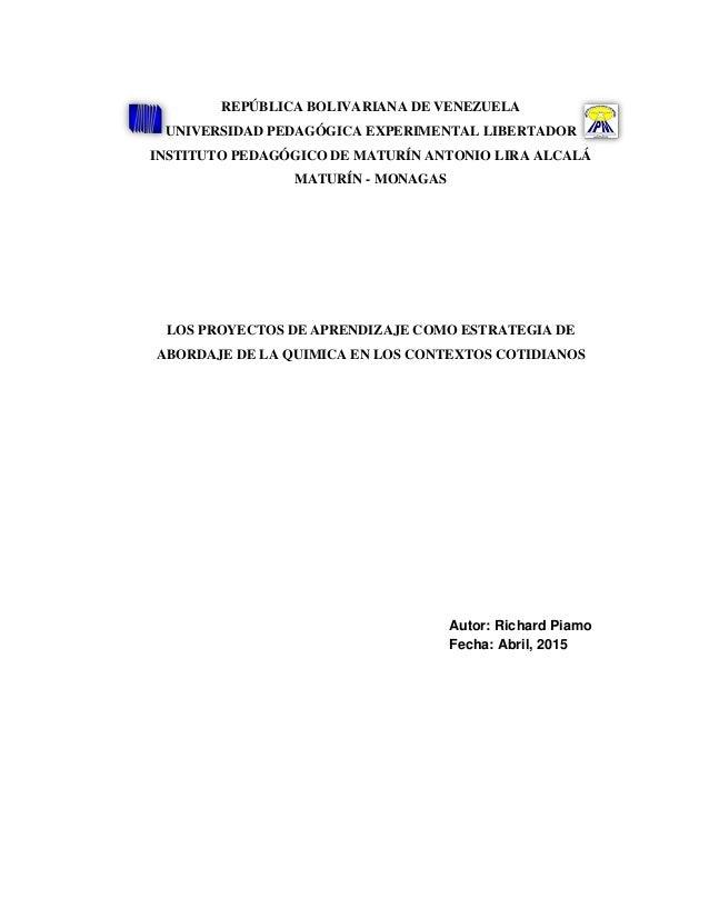 REPÚBLICA BOLIVARIANA DE VENEZUELA UNIVERSIDAD PEDAGÓGICA EXPERIMENTAL LIBERTADOR INSTITUTO PEDAGÓGICO DE MATURÍN ANTONIO ...