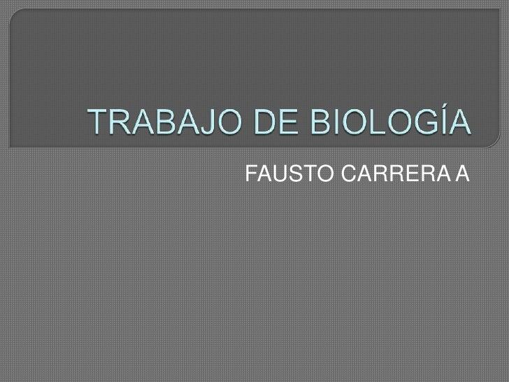 TRABAJO DE BIOLOGÍA<br />FAUSTO CARRERA A<br />