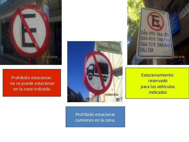 Prohibido estacionar camiones en la zona. Prohibido estacionar: no se puede estacionar en la zona indicada. Estacionamient...