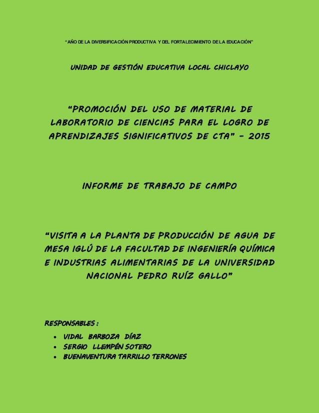 """""""AÑO DE LA DIVERSIFICACIÓN PRODUCTIVA Y DEL FORTALECIMIENTO DE LA EDUCACIÓN"""" UNIDAD DE GESTIÓN EDUCATIVA LOCAL CHICLAYO """"P..."""