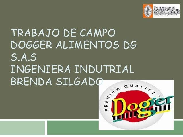 TRABAJO DE CAMPODOGGER ALIMENTOS DGS.A.SINGENIERA INDUTRIALBRENDA SILGADO