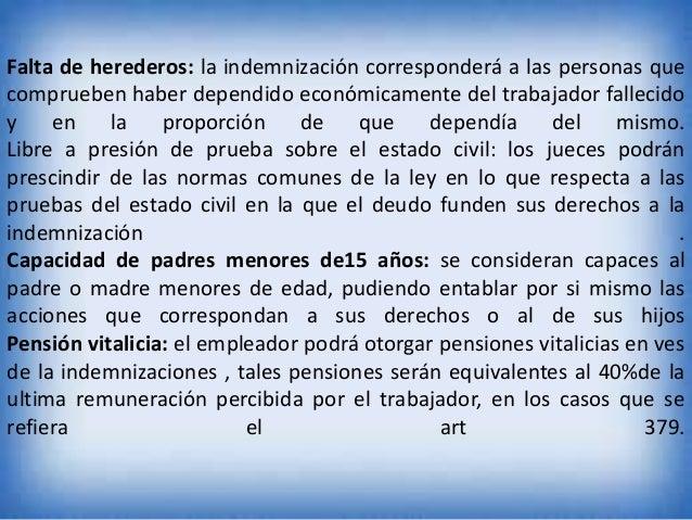 Falta de herederos: la indemnización corresponderá a las personas que comprueben haber dependido económicamente del trabaj...